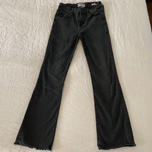 Frame Denim Le Crop Mini Boot Jeans 25 Charcoal